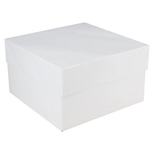 FunCakes Tortenschachtel Blanko 30cmx30cmx15cm, Pappe, Weiß, 30 x 30 x 15 cm