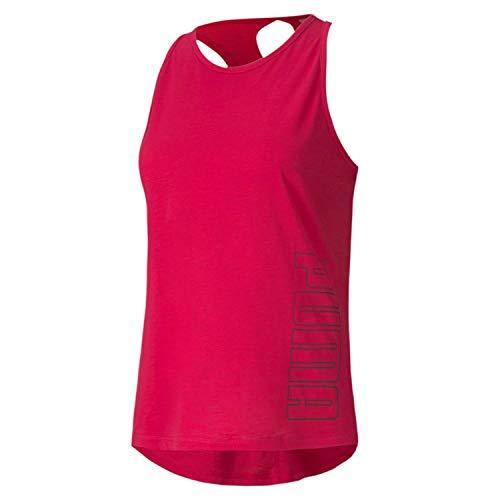 Puma Twist It Logo Tank 517421 - Camiseta de tirantes para mujer (talla L), color rosa