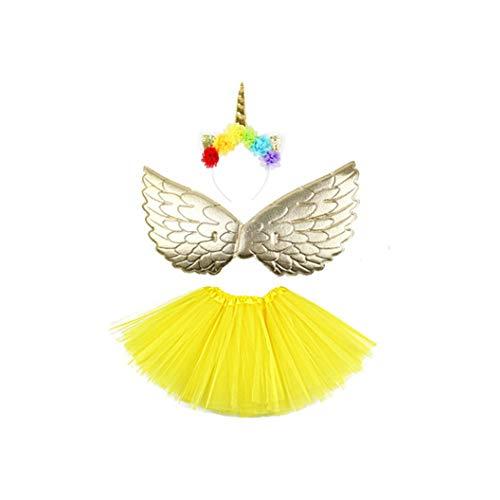 Yize - Falda de tutú arcoíris con Diadema de Unicornio para Carnaval, Fiesta, Baile, Navidad, Unicornio, Juego de...