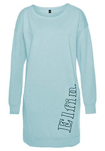 DOTIN Damen Sweatkleid Lässiges Sweatshirt Langarm Hoodie Kleider Casual Herbst Pullover Kleid Jumper Tops