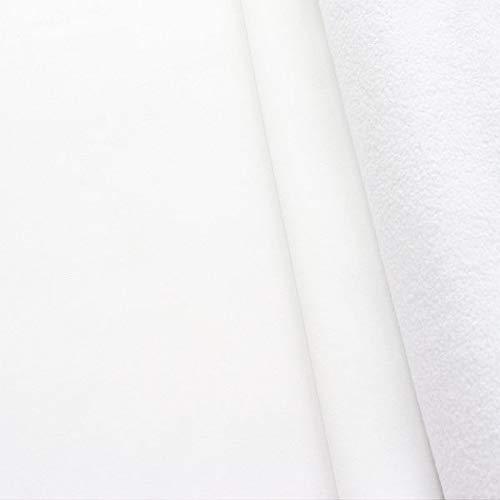 STOFFKONTOR Softshell Fleece Stoff Meterware, Wasserabweisender Softshell-Stoff mit Fleece zum Nähen - Weiss