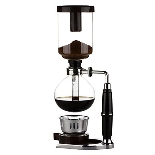 QFSLR Syphon Maschine Vakuum Kaffeebereiter Kaffeemaschine Für Kaffee Und Tee Mit Extended Griff,Schwarz