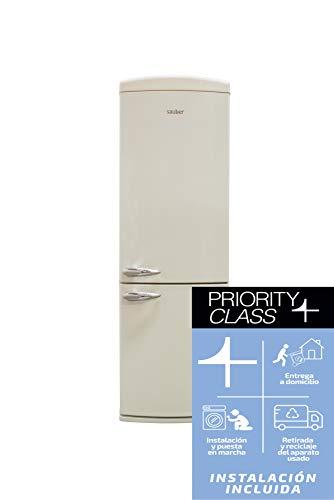 Sauber - Frigorífico Combi SCR190B - Eficiencia energética: A+ - 190x60cm - Color Crema