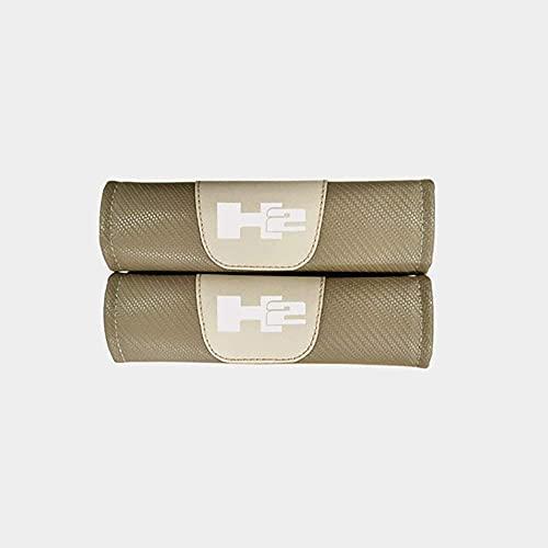 2 Piezas Automóvil Seguridad Protección Acolchado, para Hummer H2 Fibra Carbono Interior Diseño Protectoras Accesorios Cinturón Hombro