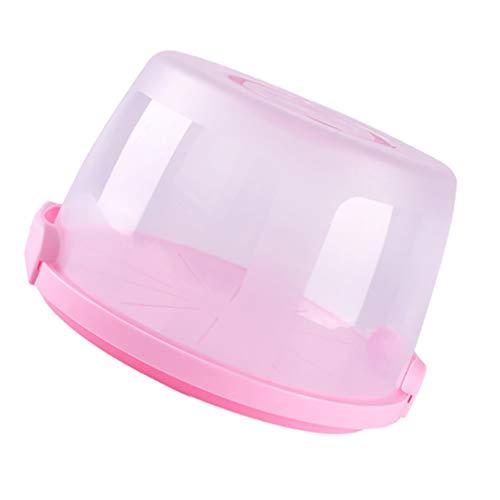 YARNOW Caja de Pastel Portátil de Plástico Tapas de Comida Plato de...