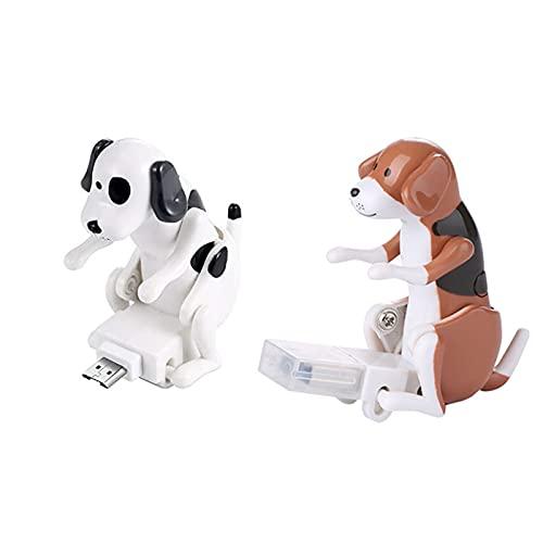 Crazyfly Streunender Hund USB Staubdichte Abdeckung, lustiger Humping Hund USB Staubstecker Portable Computer Anti Staub Schutz Haustier Kinder Spielzeug Geschenk für Mädchen Jungen