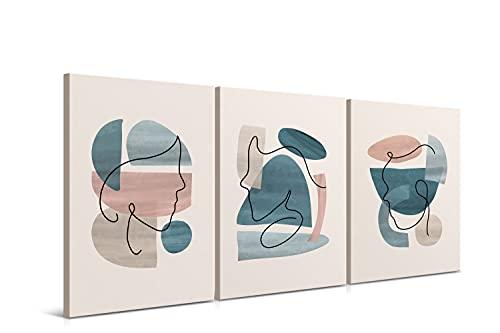 Juego de 3 Cuadros de 40 x 60 cm - Arte Abstracto...