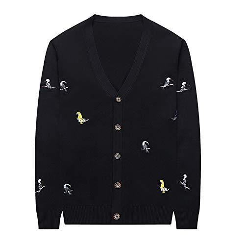 JYKING Herren V-Ausschnitt Slim Knit Casual Large Size Herbst Winter Cardigan Jacke Top Langarm Slim...
