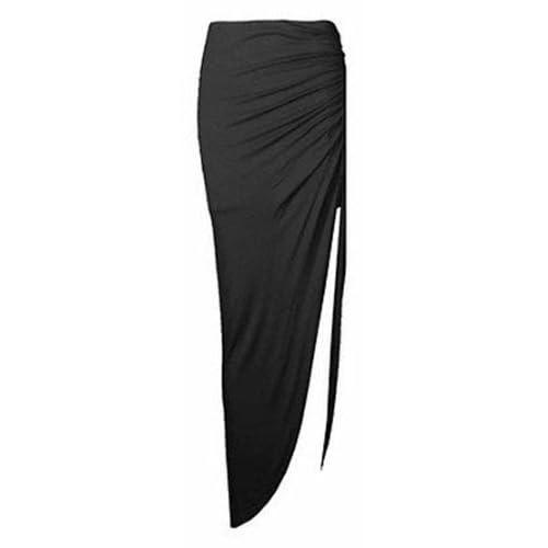 c61bfa887f Juliet's Kiss Ladies Ruched Side Split Slit Maxi Skirt Dress Size 8-14 (M