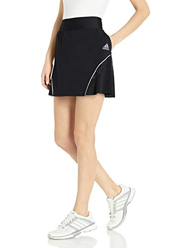 Adidas Falda Pop de Color Perforado para Mujer, Falda de Color Perforada, Negro, Mediano