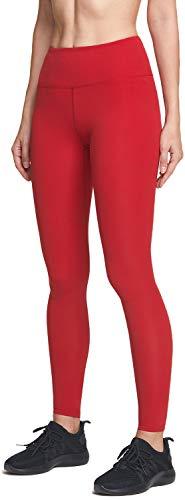 ATIKA - Pantaloni da yoga da donna, a vita alta, con controllo della pancia, ultra controllo, con tasca per allenamento - Rosso - X-Small [Size 4-6_Hip33-35 Inch]