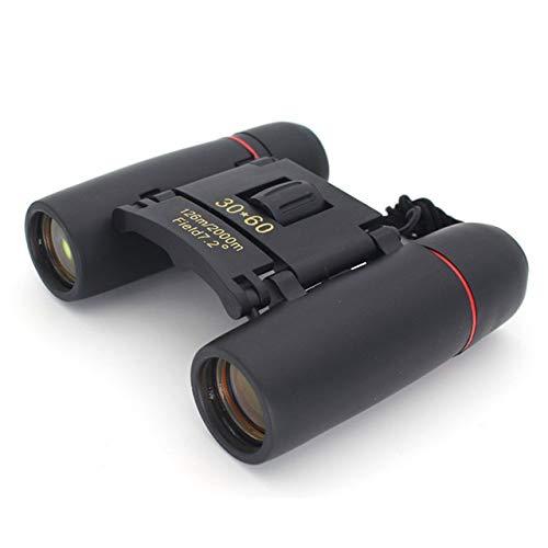 Yqs Fernglas Zoom Teleskop-Binokel 30x60 Folding mit Low Light Night Vision for Outdoor-Vogelbeobachtung Reisen Jagd Camping 2000M (Color : Black)