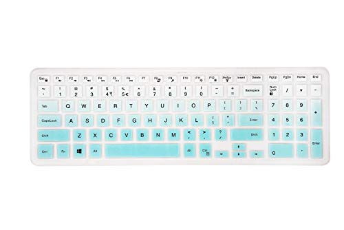 Keyboard Cover Compatible Dell Inspiron 15 3000 5000 7000 Series/Dell Inspiron 17 5000 3000Series /Dell G3 15 17 Series/Dell G5 15 Series/Dell G7 15 17 Series - Gradual Mint
