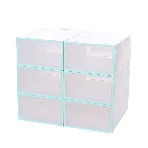 DOITOOL 6 cajas apilables para zapatos transparentes con cubierta frontal de plástico...