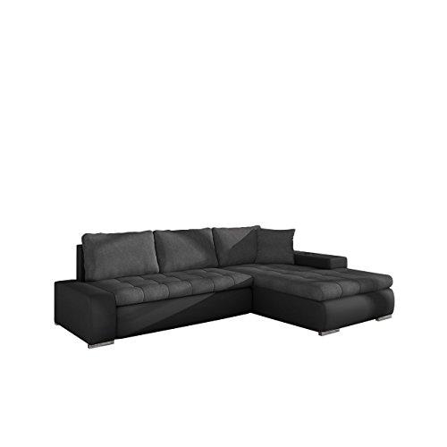 Mirjan24 Elegante Sofa Orkan Mini mit Schlaffunktion und Bettfunktion, Eckcouch Ecksofa mit Bettkasten, Couch L-Sofa Große Farbauswahl, Beste Qualität (Soft 011 + Casablanca 2315)