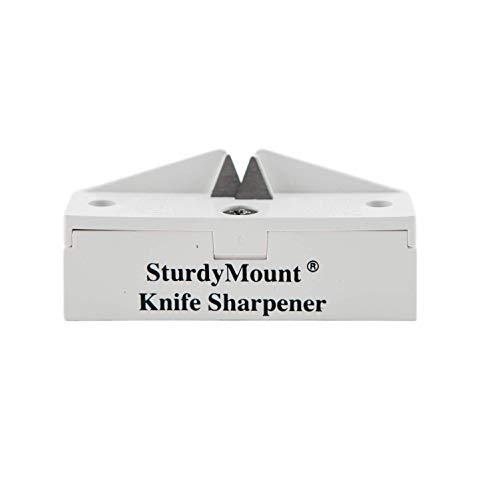 AccuSharp SturdyMount Knife Sharpener - Diamond-Honed Tungsten Carbide Rust-Free Blade Quickly...