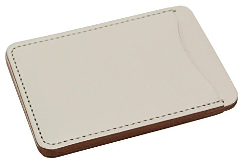 KC,s Leather GENUINE COWHIDE PASS CASE NO.2 BUONO ANIRIN Handmade In Japan White