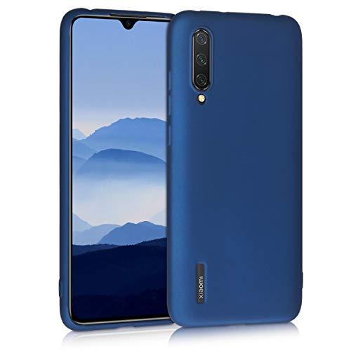 kwmobile Funda Compatible con Xiaomi Mi 9 Lite - Carcasa móvil de Silicona - Protector Trasero en Azul Metalizado