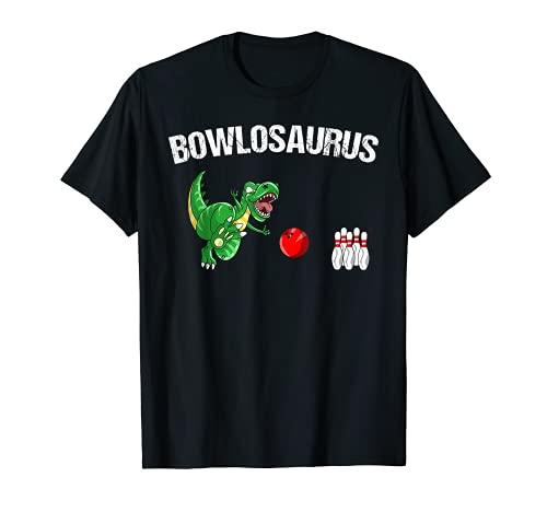 Funny Bowlosaurus | Cool Dino Bowler Deportes Bowling Kid Regalo Camiseta