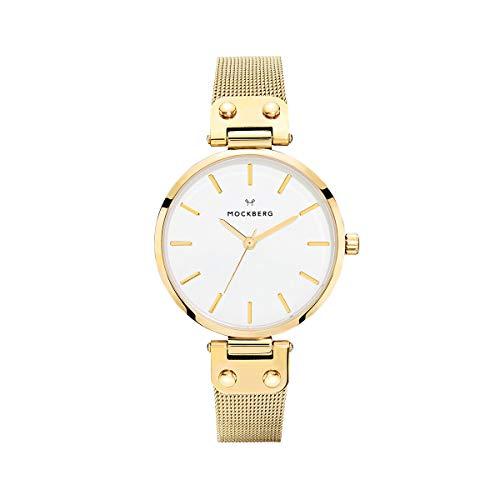 Mockberg Damen Digital Quarz Uhr mit Paqué or Armband MO1601