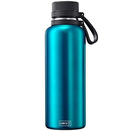 Lurch 240977 Outdoor Isolierflasche / Thermoflasche für heiße und kalte Getränke aus doppelwandigem Edelstahl 1,0l, Midnight Blue