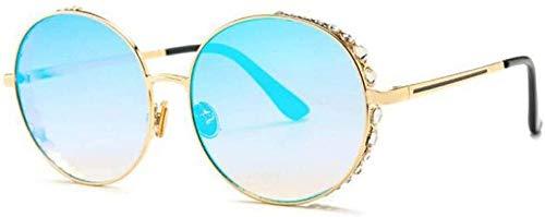 ZYIZEE Gafas de Sol Gafas de Sol Redondas de Gran tamaño para Mujer Uv400 Montura de Cristal Retro gradiente Gafas de Sol para Mujer Oculos Eyewear-3