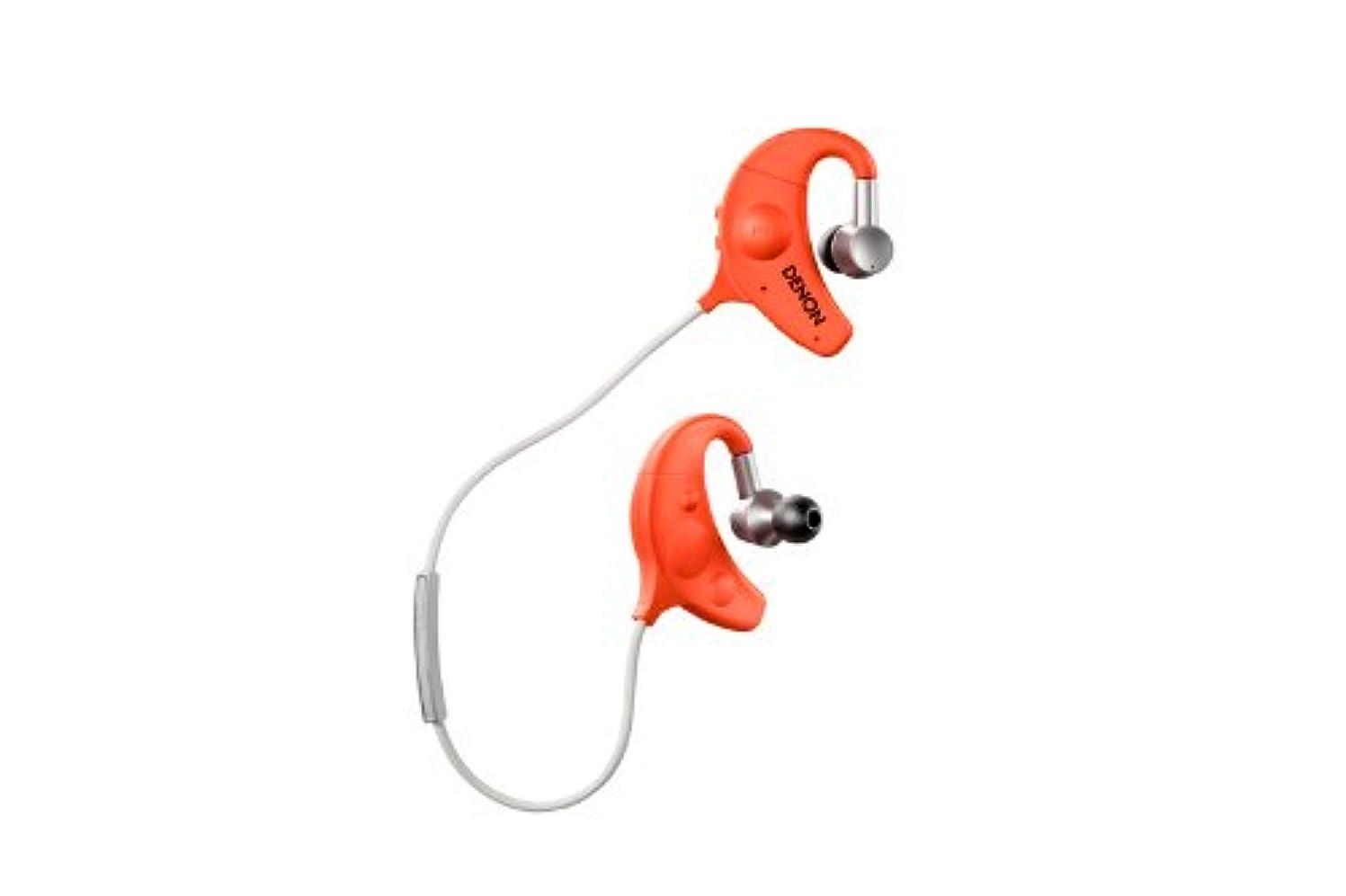 滅びる液化する計算するDENON EXERCISE FREAK インナーイヤーヘッドホン Bluetooth対応ワイヤレス オレンジ AH-W150-OR
