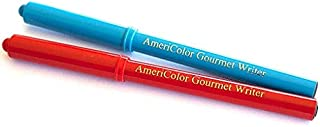 Americolor 2-Count Gourmet Writer Food Decorating Pens, Red and Blue