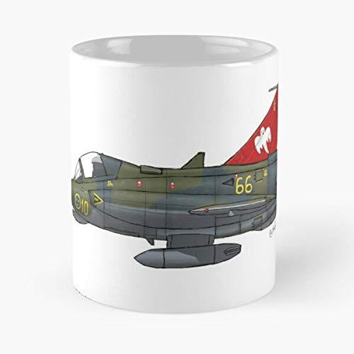 Saab Draken Fighter Aircraft Best 11 Ounce Ceramic Coffee Mug Best 11 oz Kaffeebecher - Nespresso Tassen Kaffee Motive !