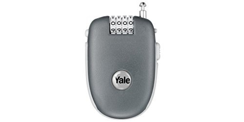Yale YR1/64/3450/1 Retractable Cable Combination Lock, 90cm, pack of 1, suitable for securing luggage