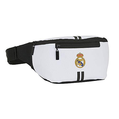 Real Madrid FC Riñonera para Niños, Bolso para Niños, Bolso de Fútbol, Diseño Ligero y Ajustable, Regalo para Niños y Adolescentes!