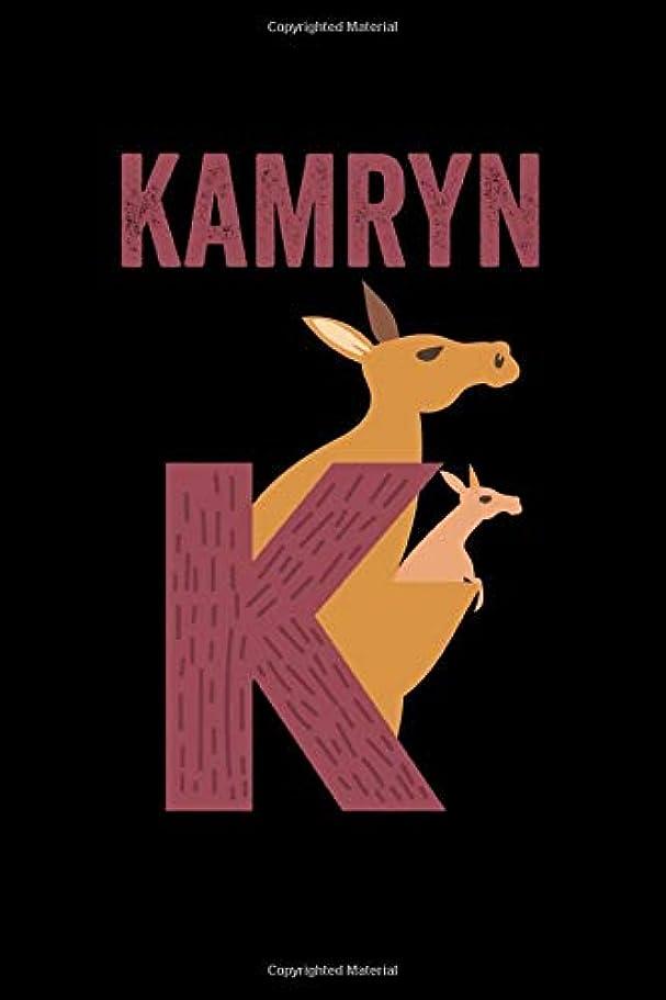 ニュース黄ばむ鼻Kamryn: Journal (Diary, Notebook) Personalized Custom Name Alphabet Kangaroo Birthday Gift for Boys