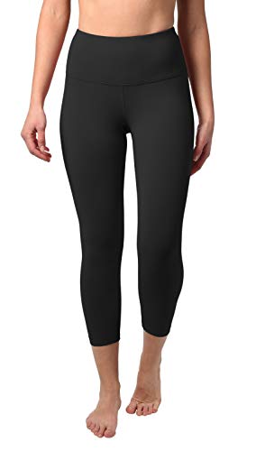 90 Degree By Reflex – High Waist Tummy Control Shapewear – Power Flex Capri Legging – Quality Guaranteed - Black Medium