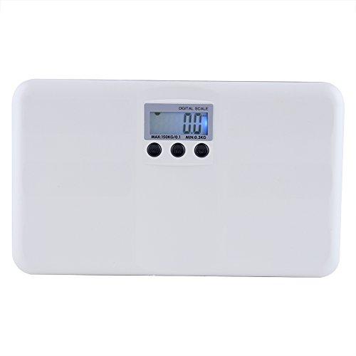Báscula Digital, Escala Digital del Peso Corporal Escala del Peso del Animal doméstico Que Pesa la exhibición del LCD con la luz de Fondo 0.66lbs-330 Lbs