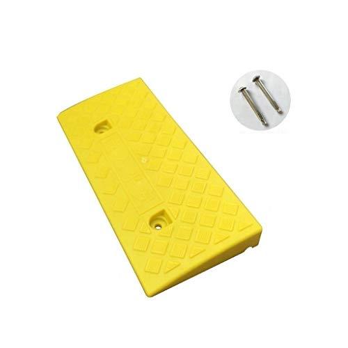 CJXing-Slope pad 5CM Curb Ramps, Umweltschutz Kunststoff Rampen Mat Grün und Gelb Tragbare Sicherheit Rampen Krankenhaus Rollstuhl Rampen (Color : Yellow, Size : 50 * 22 * 5CM)