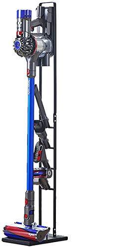 Soporte de almacenamiento de metal estable Mocosy Soporte de soporte Estación de acoplamiento de vacío sin taladro para Dyson Handheld para V10 V8 V7 V6 Aspiradoras inalámbricas y accesorios, negro