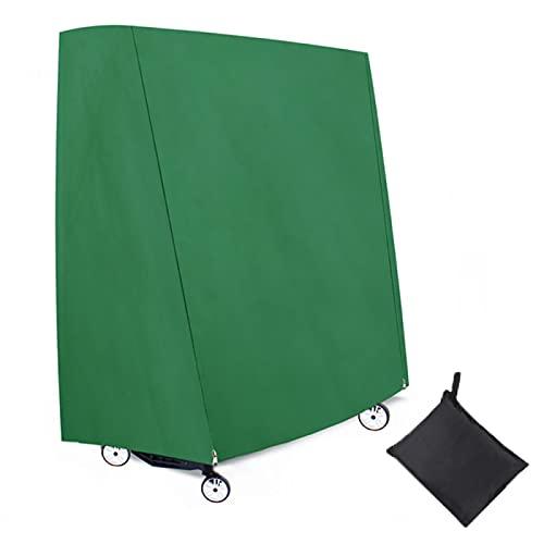 JMBF Cubierta de Mesa de Ping Pong,600D Resistente a Prueba de Rasgaduras Tela Oxford Ping Pong Cubierta de Mesa Cubierta de Polvo a Rayas Impermeable Al Aire Libre Cubierta de Almacenamiento,Green