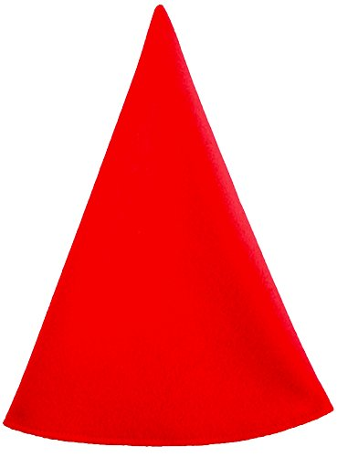 Red Gnome Hat Men's Costume Cap Extra Tall (One Size, Red)