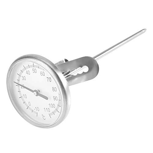 EECOO Kaffeemilchthermometer, Edelstahlmilchthermometer -10~110 ℃ Leicht zu reinigendes Kaffeeschaumzubehör