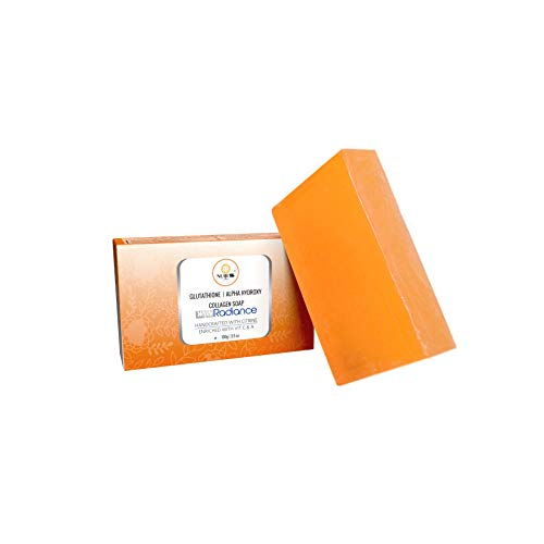 NUBESS Glutathione skin whitening soap with Alpha Hydroxy   Collagen for Anti aging & Skin Glow (100 g)