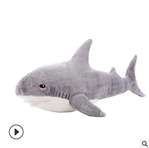 upupupup Giocattoli di pezza Regalo di Compleanno del Cuscino del Bambino dello squalo della Bambola dello squalo Bianco della Peluche dello squalo @ Grey_80Cm