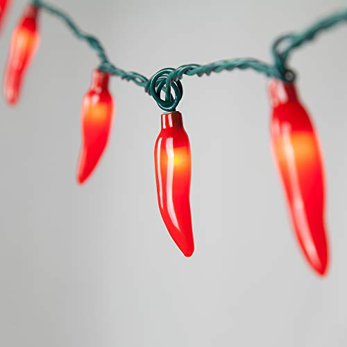 Chili Pepper Lights String, Chili String Lights – Red Chili Pepper Lights Set, Chili Lights (35 Lights, red)