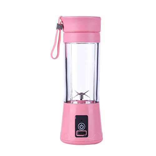 380 ml 6 cuchillas Máquina de extracción de zumo de limón Batidora Portátil Licuadora Eléctrica Vaso Recargable Multifuncional Home Mini Estudio (6 hojas)