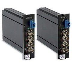 Tetra4050RXSA SIQURA, Digitaler- 4 Kanal -LWL Video - Multiplexer -Empfänger für 4 Signale über 1 Faser Singlemodekabel 9µm, Wellenlänge 1310nm, Bandbreite 6Mhz, LWL Budget 4dB, ST-Steckern (andere optional), Tisch/Wandgehäuse