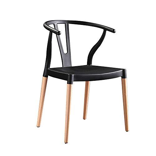 FYMDHB886 Eetkamerstoel Spijkerstoel Onderhandelstoel Lichte bureaukruk Bench Koffiestoel Massief houten stoel Vergaderstoel Dressoir, Size, B