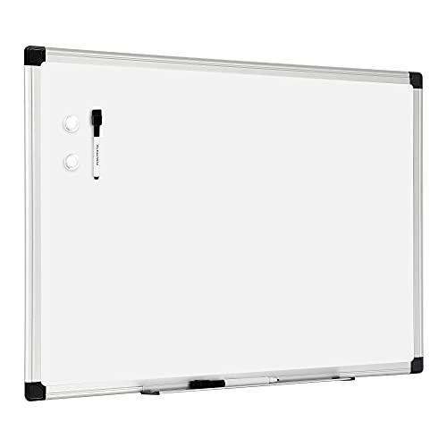 Amazon Basics Magnetic Dry Erase White Board, Whiteboard with Silver Aluminium Frame, 36 X 24 Inches