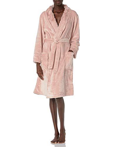PJ Salvage Women's Loungewear Luxe Plush Robe, Blush, XL