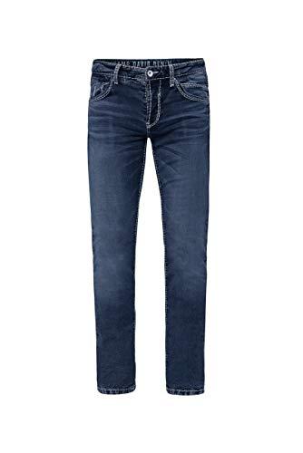 Camp David Herren Jeans RO:BI mit Knopfverschluss und Used Look