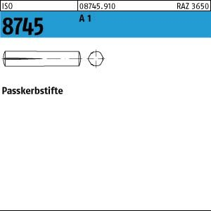 100 Paßkerbstifte ISO 8745 1.4305 6x40 rostfrei A1 Niro Edelstahl