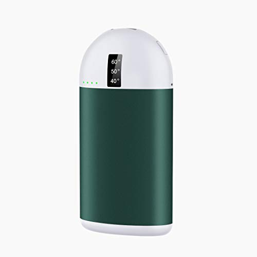 LAMA Hand Warmers Rechargeable 10000mAh Pocket Hand Warmer/Power Bank Portable Electric USB Hand Heater with Vibration Function, Perfect for Outdoors and Cold Season Gift Green